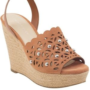 NEW Marc Fisher Espadrilles Wedges Sandals